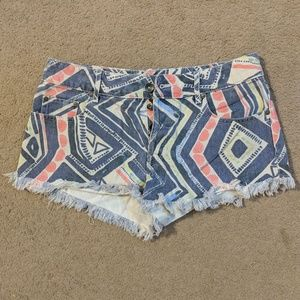 Multi-colored Roxy shorts